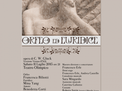 Orfeo ed Euridice di C. W. Gluck, sabato 11 Luglio 2015, ore 21