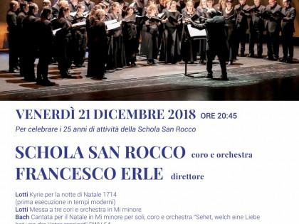 Concerto natalizio per festeggiare i 25 anni della Schola
